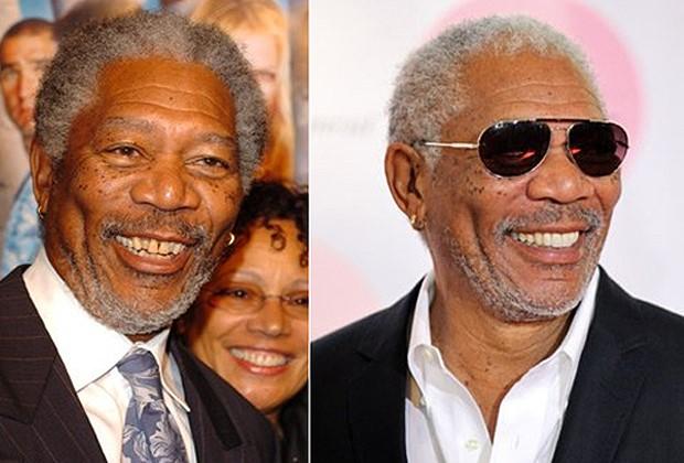 Sonrisa perfecta famosos - Morgan Freeman
